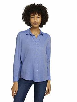 TOM TAILOR mine to five Damen 1024625 Shirt Bluse, 26376-Blue Chambray, 34 von TOM TAILOR mine to five