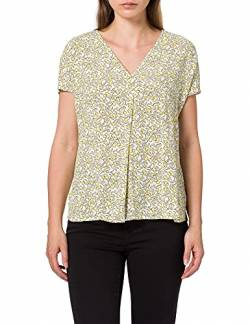 TOM TAILOR mine to five Damen 1025095 Print Bluse, 27270-Mellow Yellow Flower, 42 von TOM TAILOR mine to five