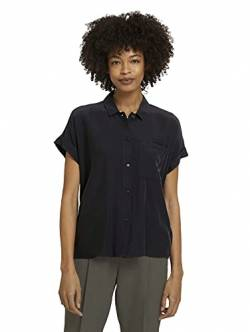 TOM TAILOR mine to five Damen 1025581 Loose Bluse, 14482-Deep Black, 40 von TOM TAILOR mine to five