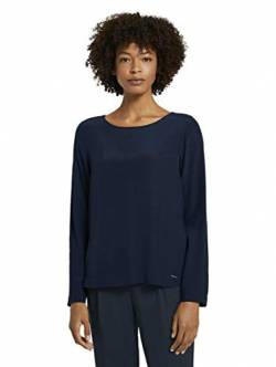 TOM TAILOR mine to five Damen Basic Solid T-Shirt, 10668-Sky Captain Blue, 34 von TOM TAILOR mine to five