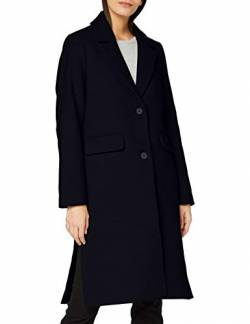 TOM TAILOR mine to five Damen Basic Woll Mantel Jacke, 10668-Sky Captain Blue, 42 von TOM TAILOR mine to five