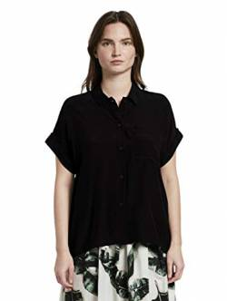 TOM TAILOR mine to five Damen Loose-Fit T-Shirt, 14482-Deep Black, 40 von TOM TAILOR mine to five