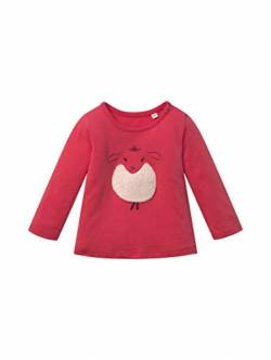 TOM TAILOR Baby-Mädchen Langarmshirt T-Shirt, Geranium|red, 68 von TOM TAILOR