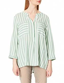 TOM TAILOR Damen Streifen Bluse, 26020-Green Offwhite Vertical Stripe, 36 von TOM TAILOR