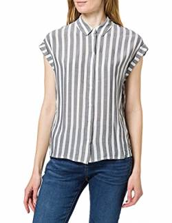 TOM TAILOR Damen 1024063 Striped Bluse, 26940-Offwhite Navy Vertical Stripe, 38 von TOM TAILOR