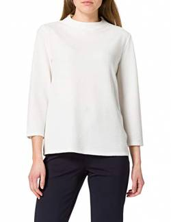 TOM TAILOR Damen Stehkragen Bluse, 10315-Whisper White, L von TOM TAILOR