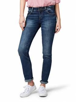 TOM TAILOR Damen Jeanshosen Alexa Straight Jeans mid Stone wash Denim,26/30 von TOM TAILOR