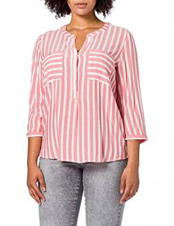 TOM TAILOR Damen Streifen Bluse, 26019-Peach Offwhite Vertical Stripe, 34 von TOM TAILOR