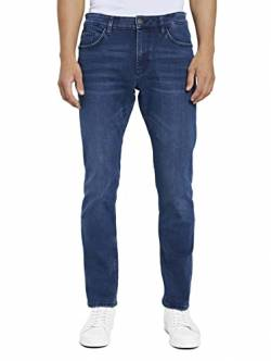 TOM TAILOR Herren Jeanshosen Josh Regular Slim Jeans mid Stone Blue Black Denim,32/32,10172,6000 von TOM TAILOR