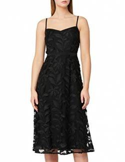 Amazon-Marke: TRUTH & FABLE Damen Midi-Blumenkleid mit A-Linie, Schwarz (Black), 42, Label:XL von TRUTH & FABLE