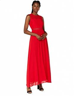 Amazon-Marke: TRUTH & FABLE Damen Maxi-Spitzenkleid, Rot (Classic Red), 38, Label:M von TRUTH & FABLE