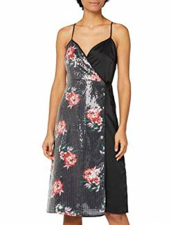 Truth & Fable Sequin Satin Mix Slip Dress Partykleid, Schwarz Black), XX-Large von TRUTH & FABLE