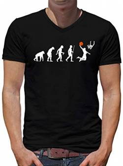 TShirt-People Evolution Basketball V-Kragen T-Shirt Herren Jordan Dirk Sport Fun L Schwarz von TShirt-People