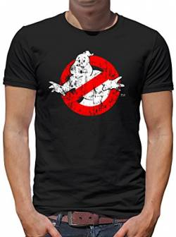 TShirt-People Ghostbusters Distressed T-Shirt Herren S Schwarz von TShirt-People
