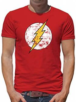 TShirt-People The Flash Logo T-Shirt Herren XXL Rot von TShirt-People