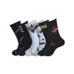 TTD 6 Packungen Crazy Funky Dress Socken Hiphop Skateboard Athletic Sports High Crew Socks von TTD