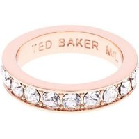 Damen Ted Baker Claudie Narrow Crystal Band Ring Sm rosévergoldet TBJ1051-24-02SM von Ted Baker Jewellery