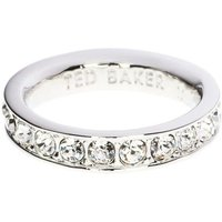 Damen Ted Baker Claudie Narrow Crystal Band Ring Sm versilbert TBJ1051-01-02SM von Ted Baker Jewellery