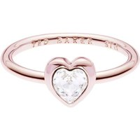 Damen Ted Baker Crystal Heart Kristall Henrria Crystal Heart Ring Basismetall TBJ1683-24-02ML von Ted Baker Jewellery