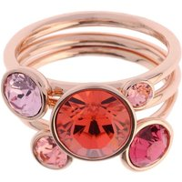 Damen Ted Baker Jackie Jewel Stack Ring ML rosévergoldet TBJ462-24-199ML von Ted Baker Jewellery