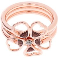 Damen Ted Baker Leotie Enamel Flower Stacking Ring ML rosévergoldet TBJ1243-24-23ML von Ted Baker Jewellery