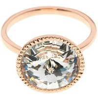 Damen Ted Baker Rada Rivoli Crystal Ring ML rosévergoldet TBJ1159-24-02ML von Ted Baker Jewellery