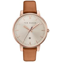 Ted Baker Kate Saffiano Leather Strap Damenuhr in Braun TE10030738 von Ted Baker