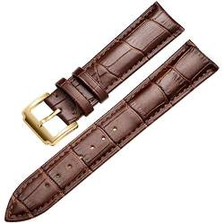 Wristband Soft Calf Dermal Strap 18-24 Mm Wristband Fittings Wristband, Gold-Brown, 13 Mm von Tedbear