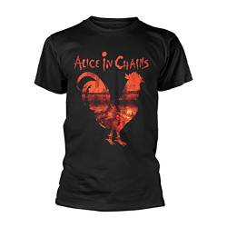 Alice in Chains Rooster Dirt Layne Staley Rock Offiziell Männer T-Shirt Herren (X-Large) von Tee Shack