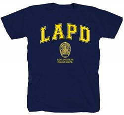 LAPD Los Angeles Police blau T-Shirt (2XL) von Tex-Ha