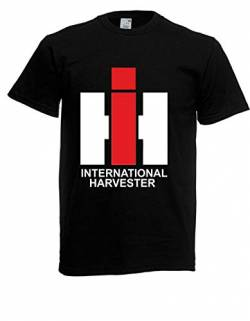 T-Shirt - IHC International Harvester (Schwarz, XL) von Textilhandel Hering