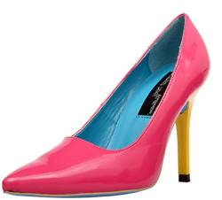 The Highest Heel Classic 10,2 cm Pumpe, Mehrfarbig (Fuschia/Gelb), 37.5 EU von The Highest Heel