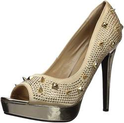 The Highest Heel Damen Foxy-101 Pumps, Gold Satin von The Highest Heel