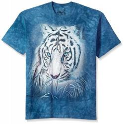 The Mountain Herren Thoughtful White Tiger T-Shirt, blau, Klein von The Mountain