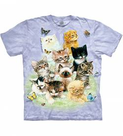 The Mountain Herren 10 Kittens T-Shirt, violett, Mittel von The Mountain