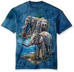 The Mountain Herren Asian Elephants T-Shirt, blau, Mittel von The Mountain