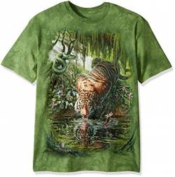 The Mountain Enchanted Tiger Adult T-Shirt, Green, Small von The Mountain