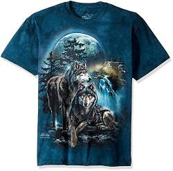 The Mountain Wolf Lookout Adult T-Shirt, Grün, 2XL von The Mountain