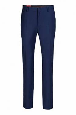 Hose Tim in Twilloptik, Slim Fit Baukastenhose (Sakko Tim, Weste Tim), Gr.-52 (X-Large), Royalblau von Thomas Goodwin
