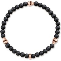 Unisex Thomas Sabo Rebel At Heart Skull Rose Armband Sterling-Silber A1508-444-11-L17 von THOMAS SABO Jewellery