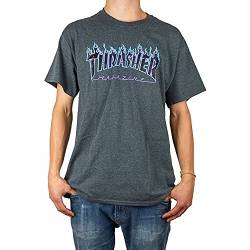 Thrasher Flame Dark Heather T-Shirt Größe XL von Thrasher