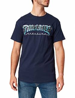 Thrasher Herren Black Ice T-Shirt, Navy Blue (Azul), S von Thrasher