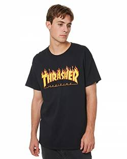 Thrasher Herren TRUTSH05749 T-Shirt, Nero (Nero/Fiamme), Medium von Thrasher