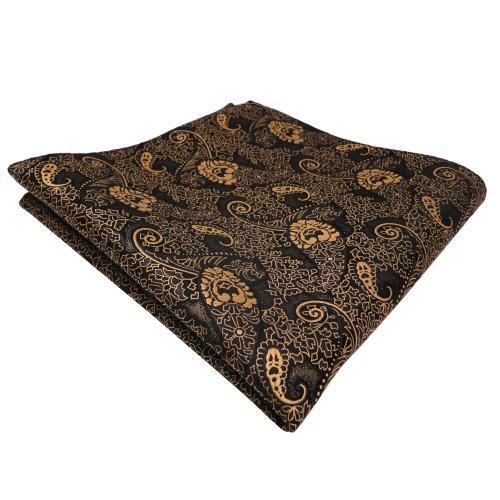 Einstecktuch in  blau dunkelblau schwarz gestreift Ornamente Tuch Polyester