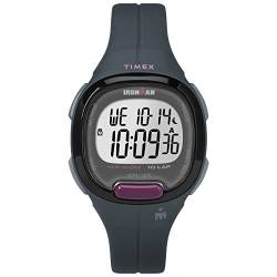 Timex Women's TW5M20000 Ironman Transit Mid-Size Gray/Purple Resin Strap Watch von Timex