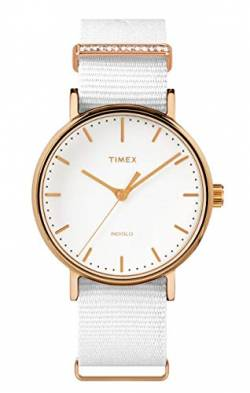 Timex Damen Analog Quartz Uhr Fairfield Women'S Crystal von Timex