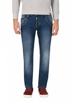 Timezone Herren Regular HaroldTZ Rough Straight Jeans, Blau (Crossedge Blue Wash 3356), W29/L32 von Timezone