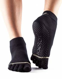 Full-Toesox ANKLE in Black in XL von Toe Sox