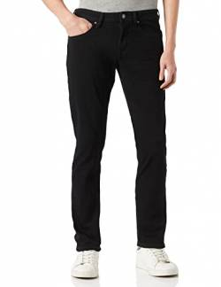 TOM TAILOR DENIM Herren Slim Piers Jeans, Schwarz (Black Denim 10240), 28W / 32L von TOM TAILOR Denim