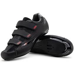 Tommaso Strada 100 Dual Cleat Compatible Road Bike, Touring, Indoor Cycling Shoe - 47 Black von Tommaso